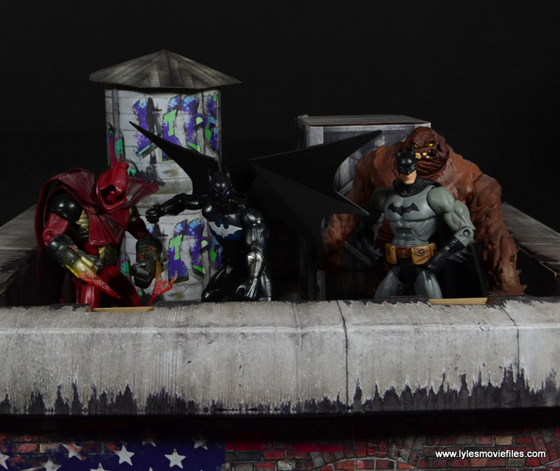 DC Multiverse Batwing figure review - Gotham Knights with Azreal, Batman and Clayface