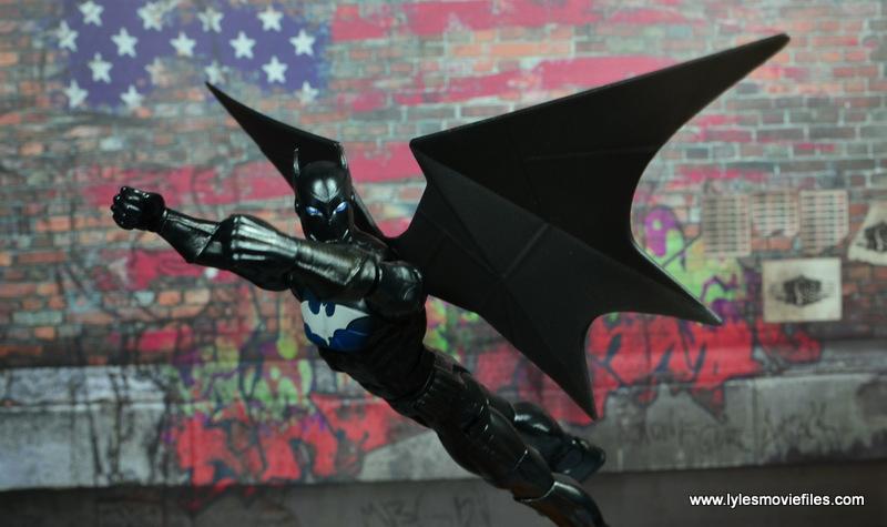 DC Multiverse Batwing figure review - flying off