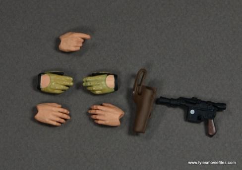 SH Figuarts Han Solo figure review -accessories
