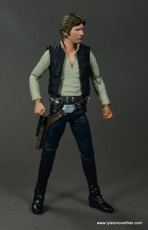 SH Figuarts Han Solo figure review -looking to the side