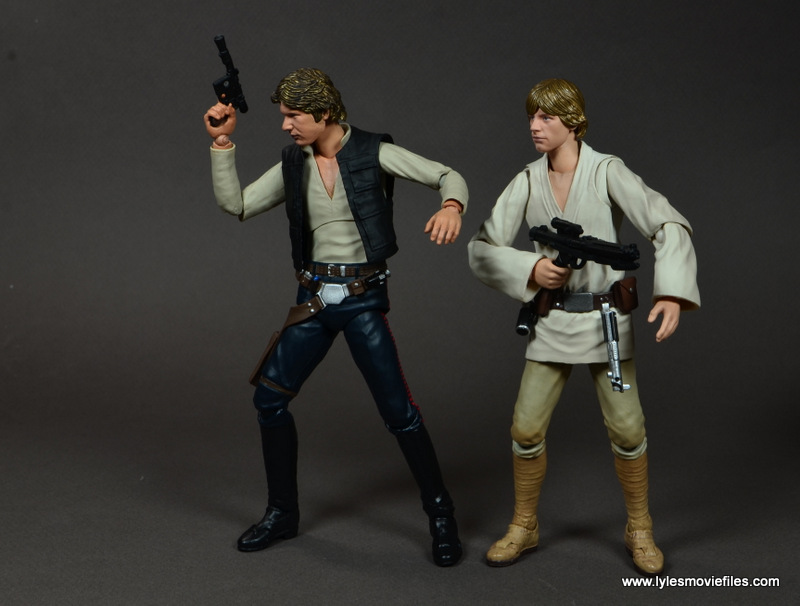 SH Figuarts Han Solo figure review -ready for battle with Luke Skywalker
