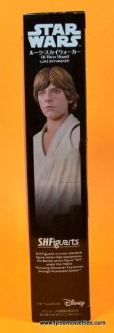 SH Figuarts Luke Skywalker figure review -package side