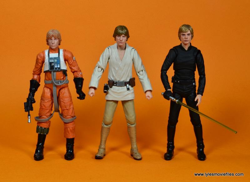 SH Figuarts Luke Skywalker figure review -scale with Hasbro X-Wing Luke and Figuarts Jedi Luke