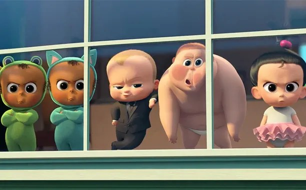 The Boss Baby review - triplets, Boss Baby, Jimbo and Staci