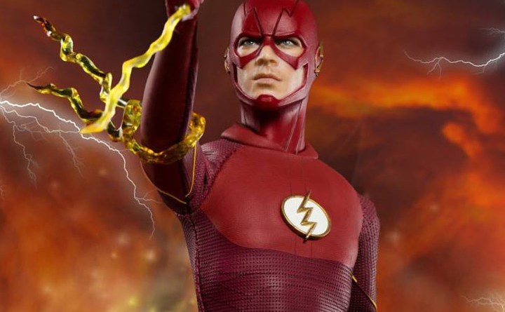 The Flash Real Master Series figure -close up