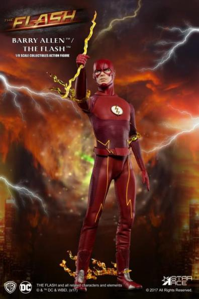 The Flash Real Master Series figure -grabbing lightning bolt