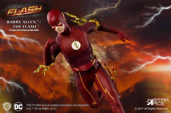 The Flash Real Master Series figure - running with lightning attachment