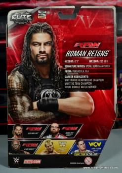 WWE Elite 45 Roman Reigns figure review - package rear