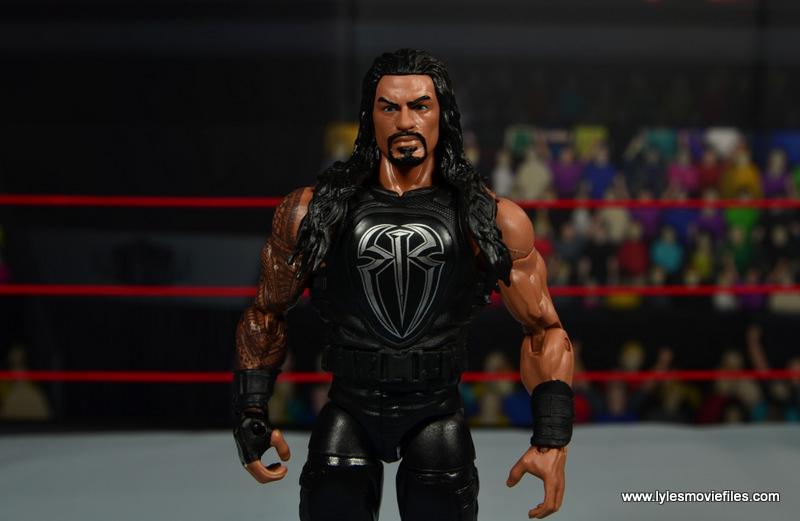 WWE Elite 45 Roman Reigns figure review - wide
