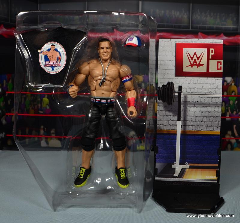 WWE Elite 50 John Cena figure review -in tray