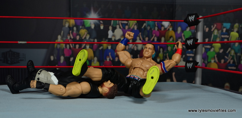 WWE Elite 50 John Cena figure review -legdrop to Kevin Owens