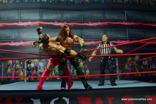 WWE Elite D-Generation X Shawn Michaels figure review - clothesline to Shamrock outside