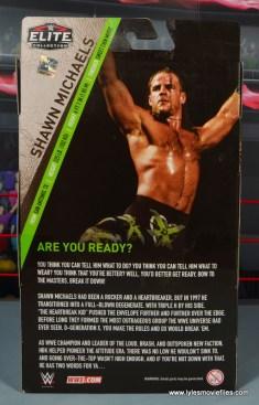 WWE Elite D-Generation X Shawn Michaels figure review - package rear