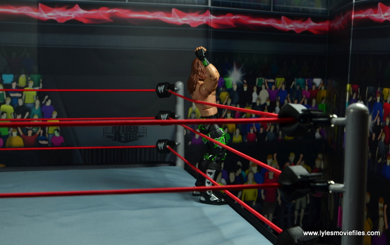 WWE Elite D-Generation X Shawn Michaels figure review - taunting on ring apron