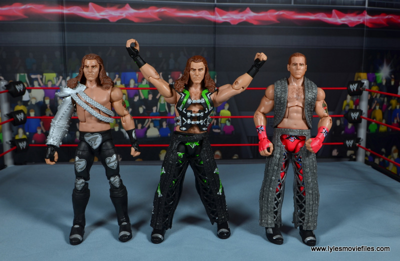 WWE Elite D-Generation X Shawn Michaels figure review - with Elite 19 HBK and WM14 HBK