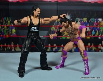 WWE Elite Hall of Fame Diesel figure review -punching Razor Ramon