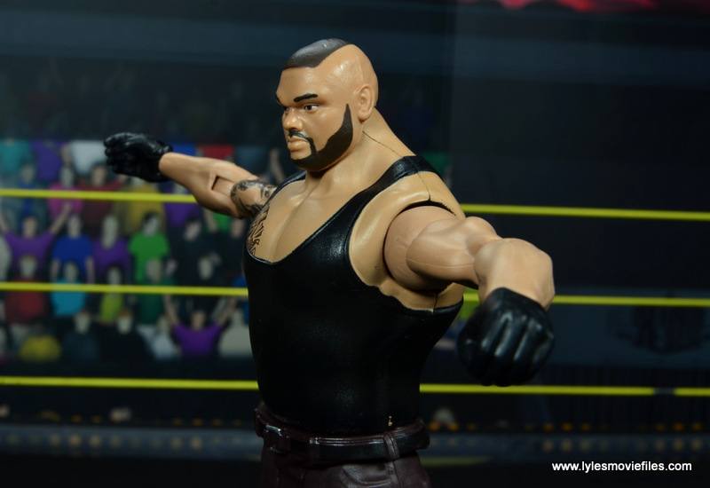wwe nxt basic akam figure review -paint smear