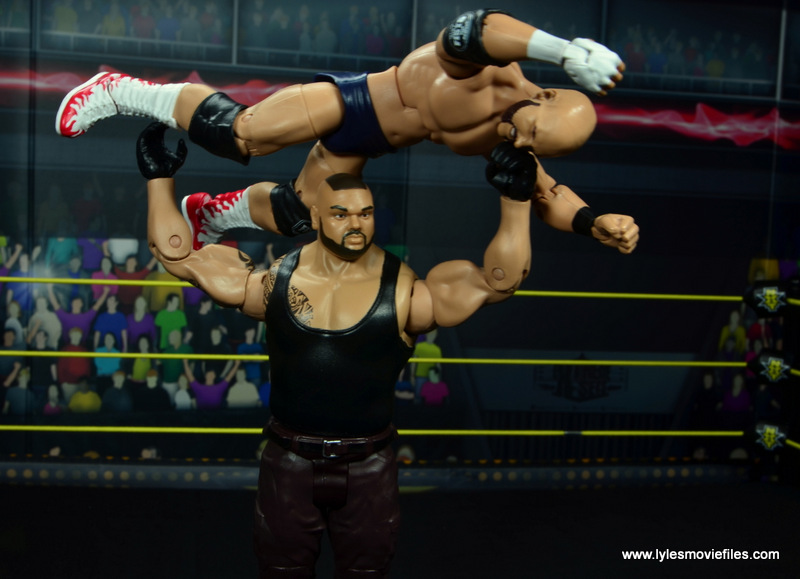 wwe nxt basic akam figure review -press slam to dawson