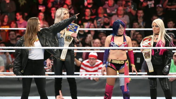 Royal Rumble 2018 - Rousey, Charlotte, asuka, Alexa bliss
