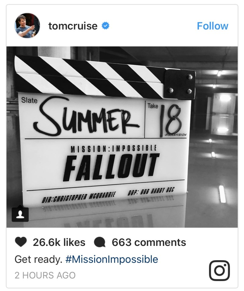 Mission Impossible Fallout set pics