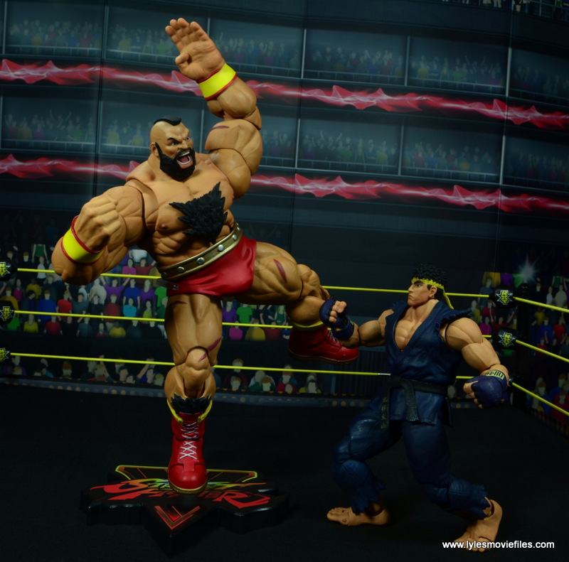 Storm Collectibles Street Fighter V Zangief figure review -about to chop Ryu
