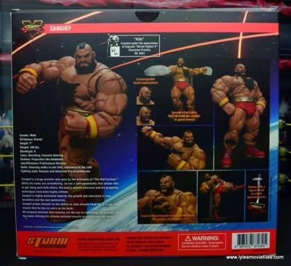 Storm Collectibles Street Fighter V Zangief figure review -package rear