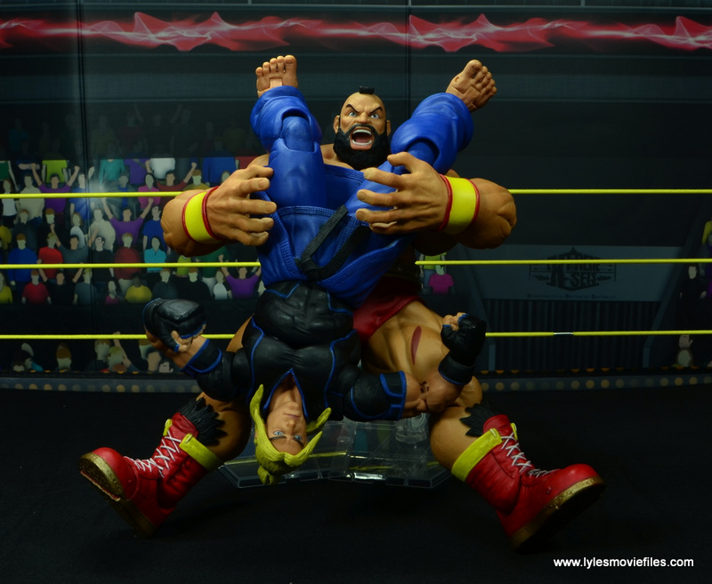 Storm Collectibles Street Fighter V Zangief figure review -piledriver to Ken