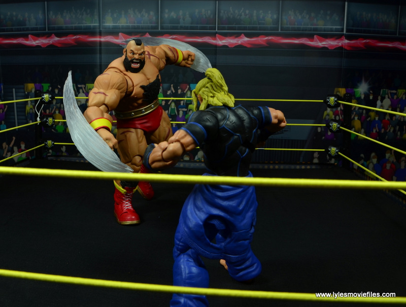 Storm Collectibles Street Fighter V Zangief figure review -red cyclone close in