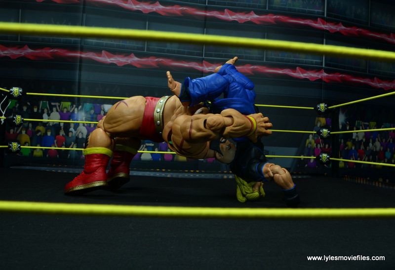 Storm Collectibles Street Fighter V Zangief figure review -suplex