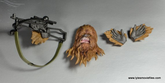 bandai sh figuarts chewbacca figure review - bowcaster, alternate head and hands