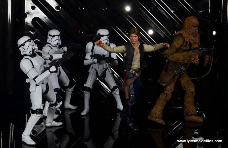 bandai sh figuarts chewbacca figure review - fighting off stormtroopers with han solo