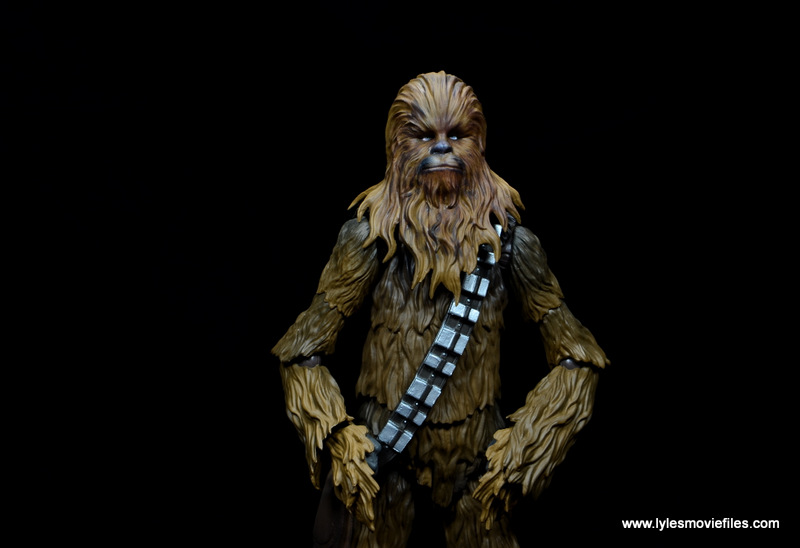 bandai sh figuarts chewbacca figure review - hands on hips