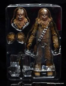 bandai sh figuarts chewbacca figure review - in tray