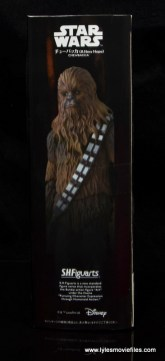 bandai sh figuarts chewbacca figure review - package side