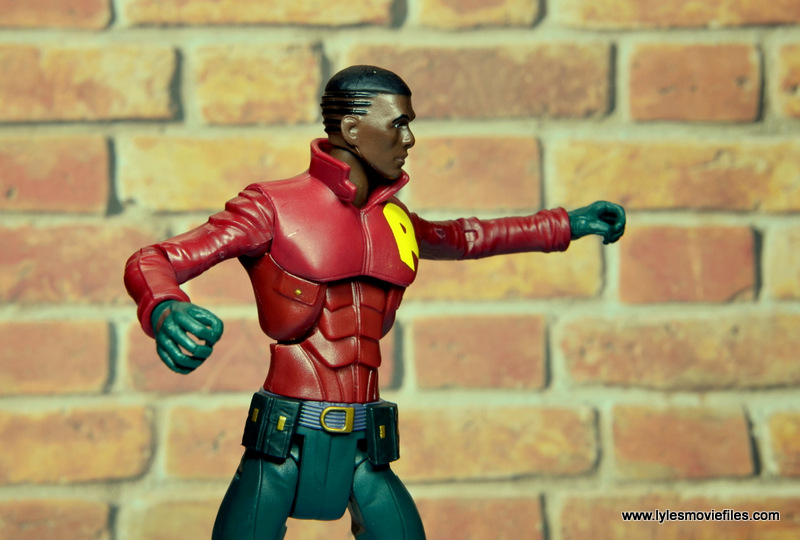 dc multiverse duke thomas figure review - helmet less head side