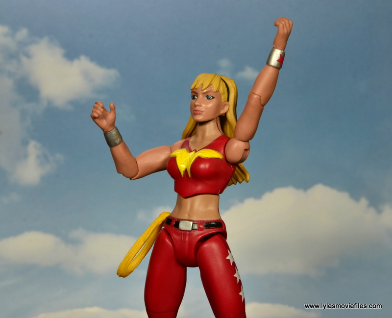 dc multiverse wonder girl figure review - about to fly off