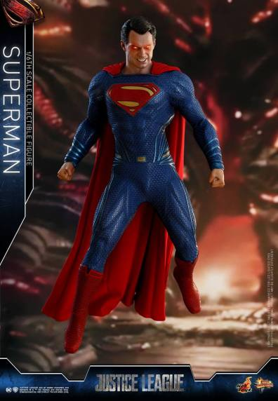 hot toys justice league superman figure review -hovering with heat vision