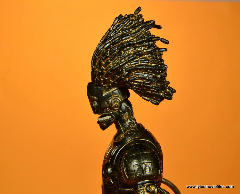 marvel legends baf warlock figure review -hair detail