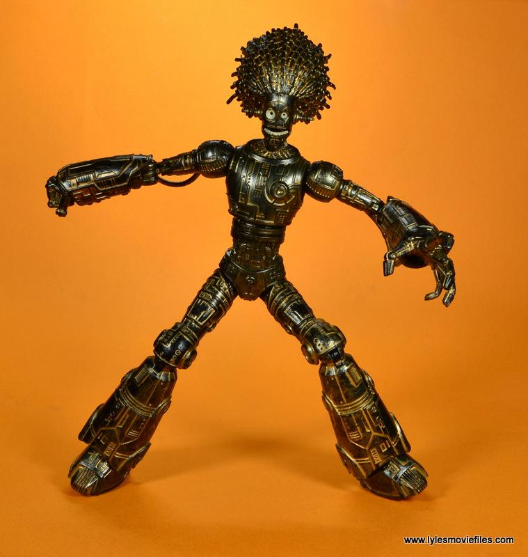 marvel legends baf warlock figure review -wide pose