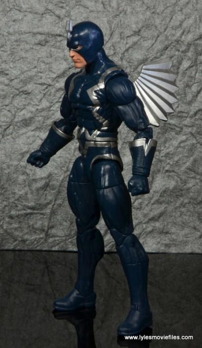 marvel legends black bolt figure review -left side