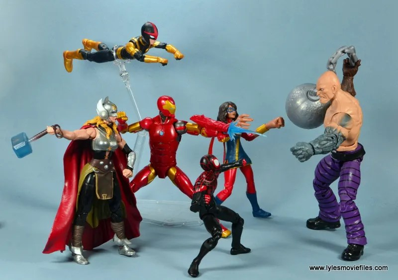 marvel legends invincible iron man figure review -all new all different avengers vs absorbing man