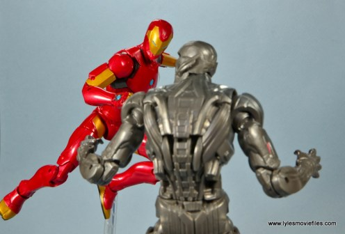 marvel legends invincible iron man figure review -flying to attack ultron