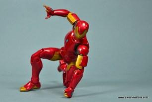 marvel legends invincible iron man figure review -landing pose