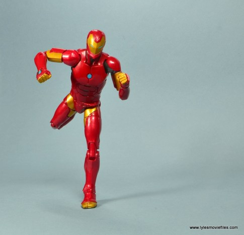 marvel legends invincible iron man figure review -running