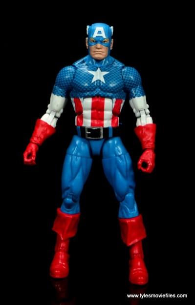marvel legends retro captain america figure review - front