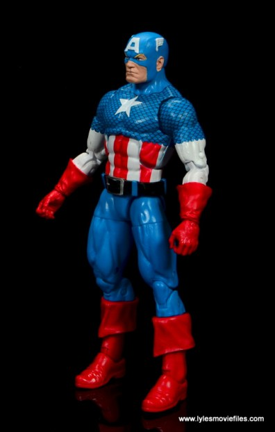 marvel legends retro captain america figure review - left side
