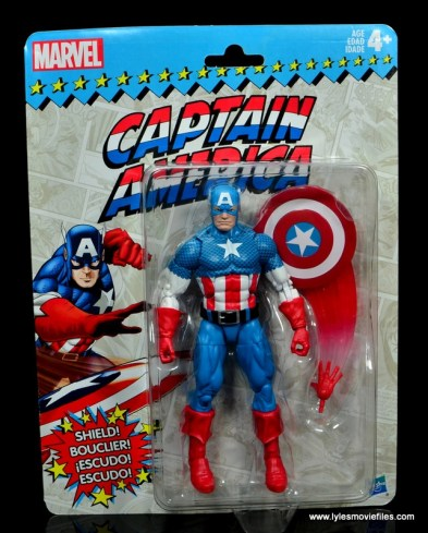 marvel legends retro captain america figure review - package front