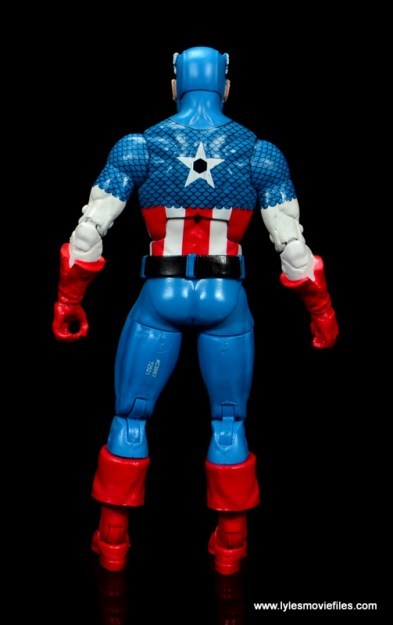 marvel legends retro captain america figure review - rear