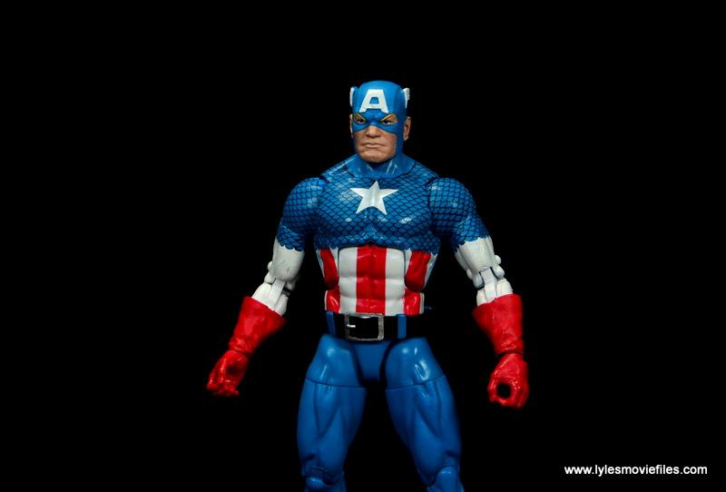 marvel legends retro captain america figure review - wide