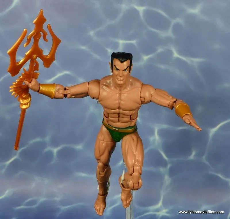 marvel legends sub-mariner figure review -coming out of water
